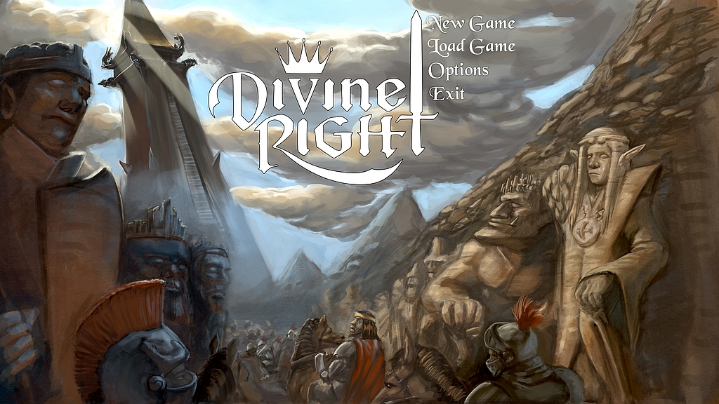 Divine Right Title Screen